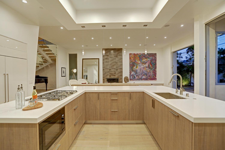 """U"" shaped kitchen cabinet with island melamine and ..."